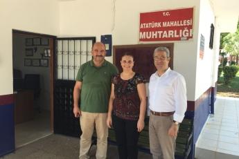 Atatürk Mahallesi Muhtarı Badegül KAPTAN'ı Ziyaretimiz-2