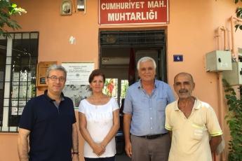 Cumhuriyet Mahallesi Muhtarı Mehmet ALAVLI'yı Ziyaretimiz