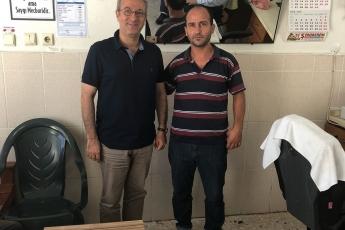 Adanalıoğlu Mahallesi Muhtarı Kazım CAN'ı Ziyaretimiz