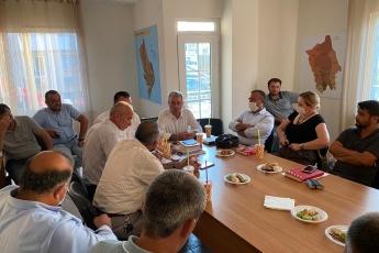 2020-08-13- Erdemli İlçe Başkanlığımızı Ziyaret ettik. Yönetim Kurulu Üyesi partililerimizle görüş alış verişinde bulunduk. - 1