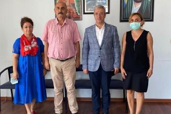 Mezitli Cemevi başkanı Ferdi Koç'u ziyaret ettik.