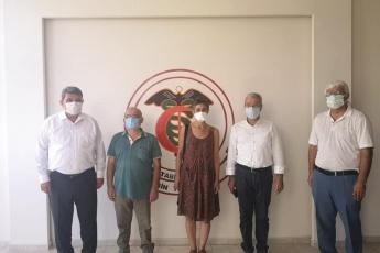 Pandemi süreci ile ilgili olarak ve yangın felaketi konularında görüş alış verişinde bulunmak üzere sayın Milletvekilimiz Cengiz Gökçel ile birlikte Mersin Tabip Odası'nın ziyaret ettik.
