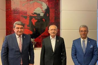 Mersin Milletvekilimiz Sayın Cengiz Gökçel ile birlikte , Türkiye'nin umudu , Genel Başkanımız Sayın Kemal Kılıçdaroğlu'nu ziyaret ettik.