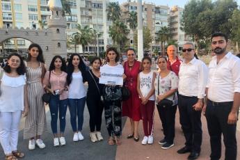 """Mersin İl Kadın Meclisinin Mersin Özgecan Aslan Meydanı'nda Yaptığı """"Ölmek İstemiyoruz"""" Basın Açıklamasına Katılımımız.-01"""