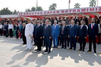 Mersin Cumhuriyet Meydanında 30 Ağustos Zafer Bayramı Çelenk Koyma Törenine Katılımımız.-03