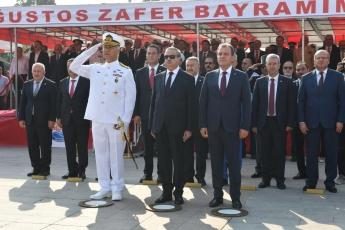 Mersin Cumhuriyet Meydanında 30 Ağustos Zafer Bayramı Çelenk Koyma Törenine Katılımımız.-04