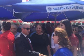 Mersin Cumhuriyet Meydanında CHP İl Başkanlığının 30 Ağustos Zafer Bayramı Çelenk Koyma Töreni ve Kutlamalarına Katılımımız.-01