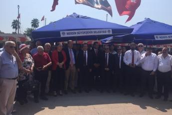Mersin Cumhuriyet Meydanında CHP İl Başkanlığının 30 Ağustos Zafer Bayramı Çelenk Koyma Töreni ve Kutlamalarına Katılımımız.-03