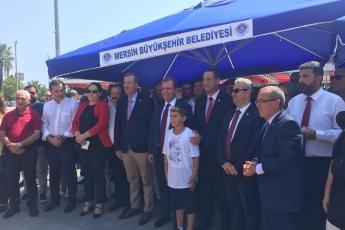 Mersin Cumhuriyet Meydanında CHP İl Başkanlığının 30 Ağustos Zafer Bayramı Çelenk Koyma Töreni ve Kutlamalarına Katılımımız.-05