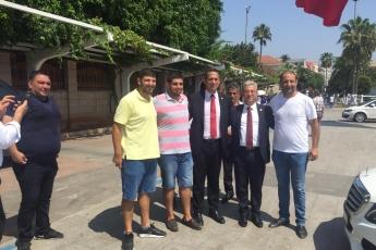 Mersin Cumhuriyet Meydanında CHP İl Başkanlığının 30 Ağustos Zafer Bayramı Çelenk Koyma Töreni ve Kutlamalarına Katılımımız.-08