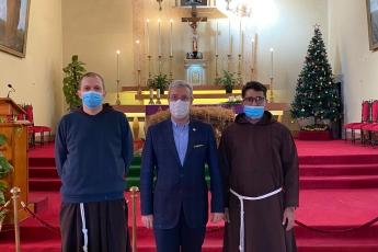 Terfi eden Mersin Katolik Kilisesi Başrahibi Roshan Cordeiro'ya tebrik ziyaretimiz...