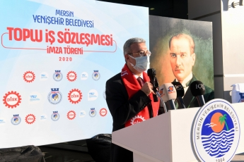 Yenişehir Belediyesinin Toplu İş Sözleşmesi İmza Törenindeyiz...