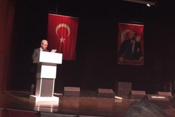 """Mersin Atatürk Kültür Merkezinde """"Akdeniz Bölgesi Büyük Roman Buluşması"""" Toplantısına Katılımımız..-04"""