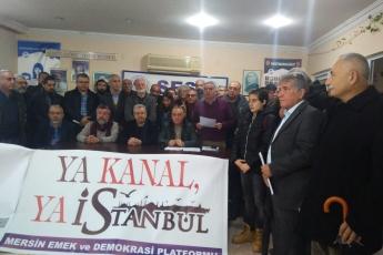 """Mersin Emek ve Demokrasi Platformunun """"Ya Kanal Ya İstanbul"""" Konulu Basın Açıklamasına Katılımımız.-02"""