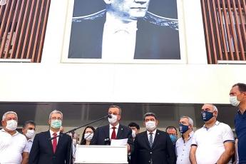 İl Başkanlığımızda Esnafımızla ilgili basın toplantısına katıldık... - 7