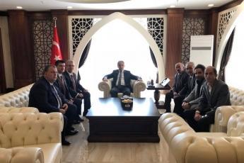Hakkari Valisi Sayın Cüneyt Orhan TOPRAK'a CHP İl ve İlçe Başkanları ile Birlikte Nezaket Ziyaretimiz