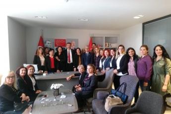 CHP İl Başkanlığında CHP Kadın Kolları ile Yapılan Toplantıya Katılımımız