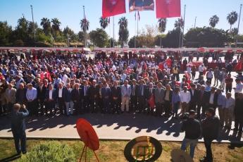 Cumhuriyet Meydanı CHP İl Başkanlığı 29 Ekim Cumhuriyet Bayramı Çelenk Koyma Töreni ve Cumhuriyet Yürüyüşüne Katılımımız-01