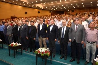 19 Ekim Muhtarlar Günü Münasebetiyle Mersin Büyükşehir Belediyesinin Düzenlediği Muhtarlar Toplantısına Katılımımız.-01