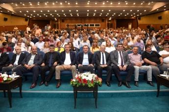 19 Ekim Muhtarlar Günü Münasebetiyle Mersin Büyükşehir Belediyesinin Düzenlediği Muhtarlar Toplantısına Katılımımız.-03