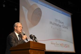 19 Ekim Muhtarlar Günü Münasebetiyle Mersin Büyükşehir Belediyesinin Düzenlediği Muhtarlar Toplantısına Katılımımız.-04