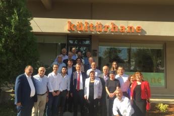 Genel Başkan Yardımcımız ve Milletvekilimiz Yunus Emre, İstanbul Milletvekilimiz İbrahim Kaboğlu, İl Başkanımız Adil Aktay, Parti Örgütümüz ve Kültür Eski Bakanımız Ercan Karakaş ile birlikte Kültürhane'yi ziyaretimiz.-01
