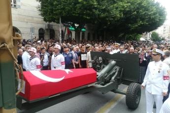 Hakkari'deki Alçak Saldırıda Şehit Düşen Mersinli Hemşehrimiz Er Mustafa Korkmaz'ı Son Yolculuğuna Uğurlamamız.-07