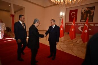 Mersin Kültür Merkezinde 29 Ekim Cumhuriyet Bayramı'nın 96. Yılı Kutlama Etkinlikleri Kapsamında Protokol Bayramlaşma Törenine Katılımımız.