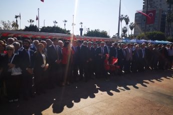 Mersin Cumhuriyet Meydanında CHP Mersin İl Örgütü İle 29 Ekim Cumhuriyet Bayramı'nın 96. Yılı Kutlama Etkinliklerine Katılımımız.-02