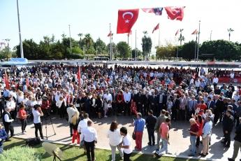 Mersin Cumhuriyet Meydanında CHP Mersin İl Örgütü İle 29 Ekim Cumhuriyet Bayramı'nın 96. Yılı Kutlama Etkinliklerine Katılımımız.-06