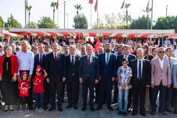 Mersin Cumhuriyet Meydanında CHP Mersin İl Örgütü İle 29 Ekim Cumhuriyet Bayramı'nın 96. Yılı Kutlama Etkinliklerine Katılımımız.-08
