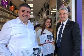 İstiklal Marşımızın Basılı Olduğu Broşürlerin CHP Mezitli İlçe Örgütümüz İle Birlikte Esnaf ve Halkımıza Dağıtımına Katılımımız.-07