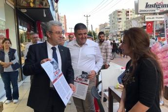 İstiklal Marşımızın Basılı Olduğu Broşürlerin CHP Mezitli İlçe Örgütümüz İle Birlikte Esnaf ve Halkımıza Dağıtımına Katılımımız.-09