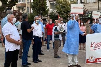 Mersin Tabip Odası'nın koronavirüs salgını sürecinde vatandaşlarımızın hayatını kurtarmak için kendi hayatını feda eden sağlık çalışanları anısına düzenlediği eyleme katıldık - 2
