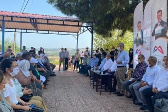 Mersin Büyükşehir Belediye Başkanımız Vahap Seçer ile birlikte, Mersin İl Başkanlığımız ve Yenişehir İlçe Başkanlığımız ile Çavak Mahallemizi ziyaret ettik. - 3