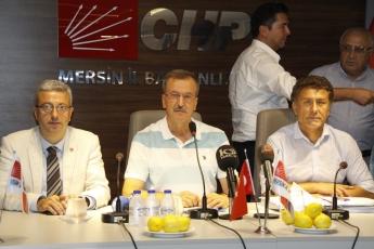 CHP Genel Başkan Yardımcısı Orhan SARIBAL ile Mersin Değerlendirmesi Basın Açıklamasına Katılımımız.01