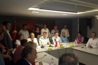 CHP Genel Başkan Yardımcısı Orhan SARIBAL ile Mersin Değerlendirmesi Basın Açıklamasına Katılımımız.02