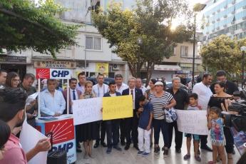Mersin Özgür Çocuk Parkında CHP İl Başkanlığının Karma Eğitim Konulu Basın Açıklamasına Katılımımız.