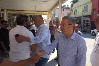 CHP Tarsus İlçe Başkanımız Ali İlk İle Birlikte Tarsus Barboros Mahallesi Çarşı Esnafı ve Kahvehanelerini Ziyaretimiz.-02
