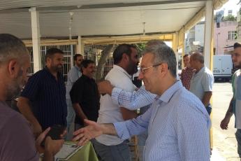 CHP Tarsus İlçe Başkanımız Ali İlk İle Birlikte Tarsus Barboros Mahallesi Çarşı Esnafı ve Kahvehanelerini Ziyaretimiz.-03