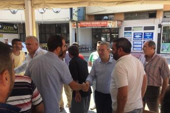 CHP Tarsus İlçe Başkanımız Ali İlk İle Birlikte Tarsus Barboros Mahallesi Çarşı Esnafı ve Kahvehanelerini Ziyaretimiz.-04