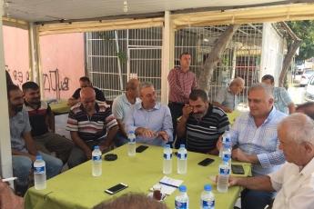 CHP Tarsus İlçe Başkanımız Ali İlk İle Birlikte Tarsus Barboros Mahallesi Çarşı Esnafı ve Kahvehanelerini Ziyaretimiz.-06