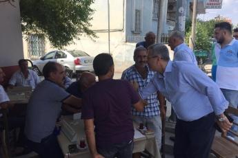 CHP Tarsus İlçe Başkanımız Ali İlk İle Birlikte Tarsus Barboros Mahallesi Çarşı Esnafı ve Kahvehanelerini Ziyaretimiz.-07