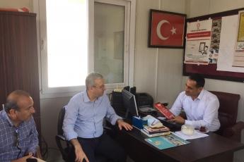 CHP Tarsus İlçe Başkanımız Ali İlk İle Birlikte Tarsus Girne Mahallesi Muhtarımız Ramazan İnal'ı Ziyaret Ederek, Bir Yıllık Faaliyetlerimizi İçeren Kitabımızı Takdimimiz.-02