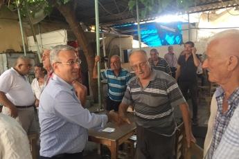 CHP Tarsus İlçe Başkanımız Ali İlk ile Birlikte Tarsus Yeşil Mahallesi Kahvehanelerini Ziyaretimiz.-02