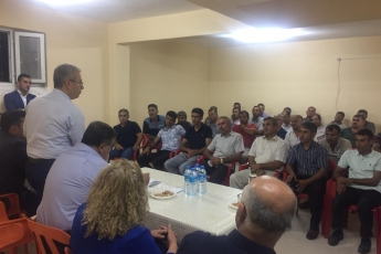 Adıyaman Yenimahalle'de CHP Parti yöneticilerimiz ile birlikte Apartman Görevlileri (Kapıcılar) ile toplantımız.-01