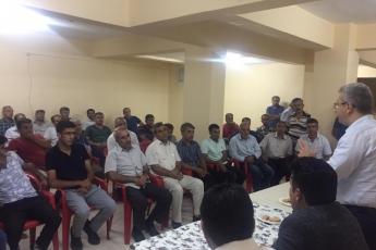 Adıyaman Yenimahalle'de CHP Parti yöneticilerimiz ile birlikte Apartman Görevlileri (Kapıcılar) ile toplantımız.-03