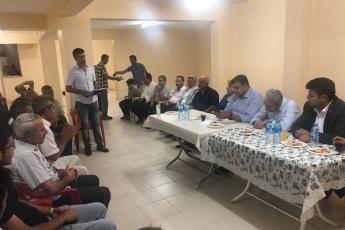 Adıyaman Yenimahalle'de CHP Parti yöneticilerimiz ile birlikte Apartman Görevlileri (Kapıcılar) ile toplantımız.-04