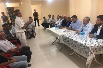 Adıyaman Yenimahalle'de CHP Parti yöneticilerimiz ile birlikte Apartman Görevlileri (Kapıcılar) ile toplantımız.-05