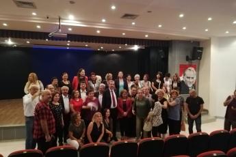"""Doğa Haklarından Sorumlu Genel Başkan Yardımcımız Gülizar Biçer Karaca'nın Akkuyu Nükleer Santrali İçin """"Mersin'de Nükleer Santral İstemiyoruz"""" Konulu Toplantısına Katılımımız.-02"""